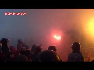 Спартак vs цска_spartak against cska_moscow_fight hooligans_ultras_pyro_russian