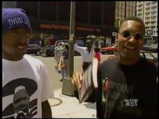 Tupac racing with John Singleton on Rap City in July '93