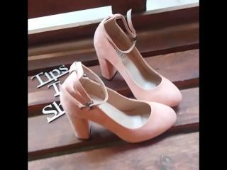 Видео-обзор Tips_Tops_Shops. Персиковые туфли с чокером