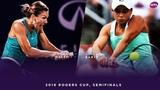 Simona Halep vs. Ashleigh Barty 2018 Rogers Cup Semifinals WTA Highlights