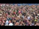 Болельщики смотрят матч Хорватия - Англия на FIFA Fan Fest