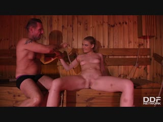 Lucy Heart - Bound And Spanked at the Sauna [DDFnetwork, HD720, Anal, Blowjob, Boundage, Brunette]