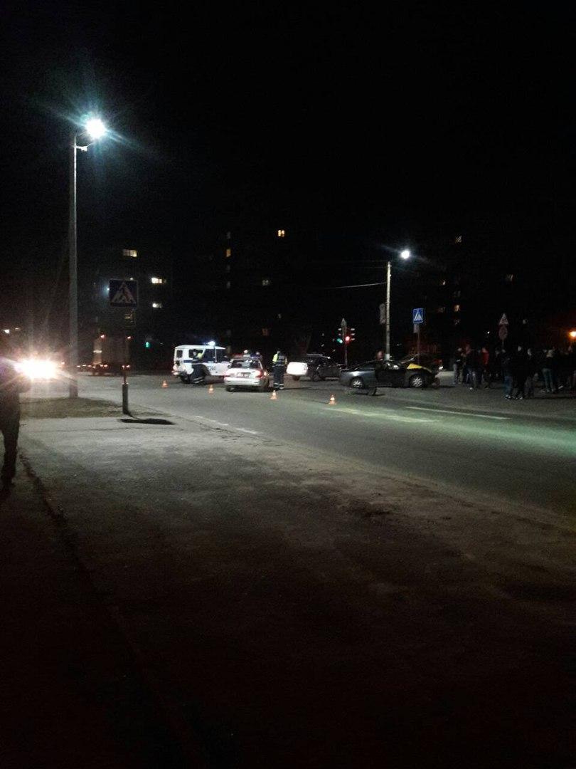 В Пинске произошло ДТП с участием автомобиля милиции