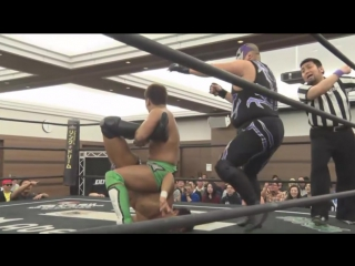 Tetsuya Endo, Mad Paulie vs. Kouki Iwasaki, Mizuki Watase (DDT - Dramatic Nerima the Fighter 2018)