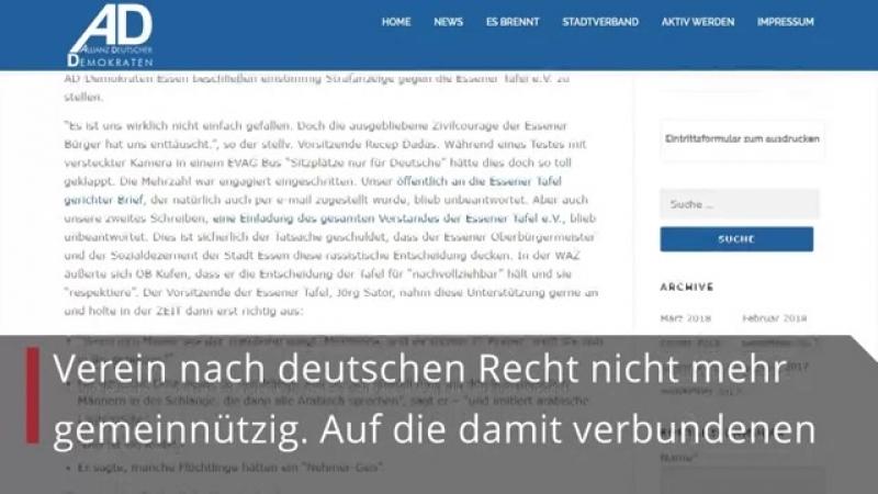 Partei stellt Strafanzeige gegen Tafel und Chef Jörg Sartor
