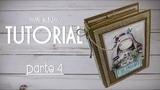 Tutorial Scrapbooking Album - Mis Recetas - PARTE 44 - CAPA e CASCATA - colabora
