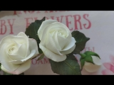 Веточка роз с лавандой.