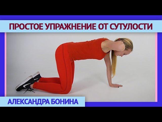 ►ПРОСТОЕ УПРАЖНЕНИЕ ОТ СУТУЛОСТИ Гимнастика при сколиозе сутулости остеохон