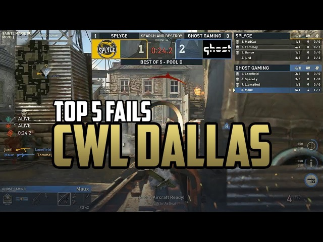 TOP 5 FAILS CWL Dallas Open 2017