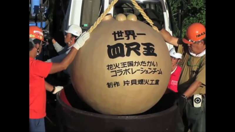 Самый большой в мире шар салюта