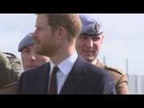 Prince Harry enjoys flypast at Army Aviation Centre