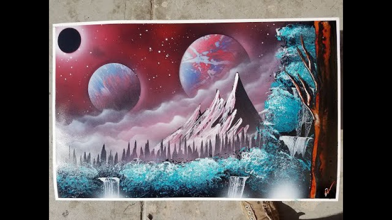Spray paint art tutorial for beginners tips and tricks landscape and space techniques