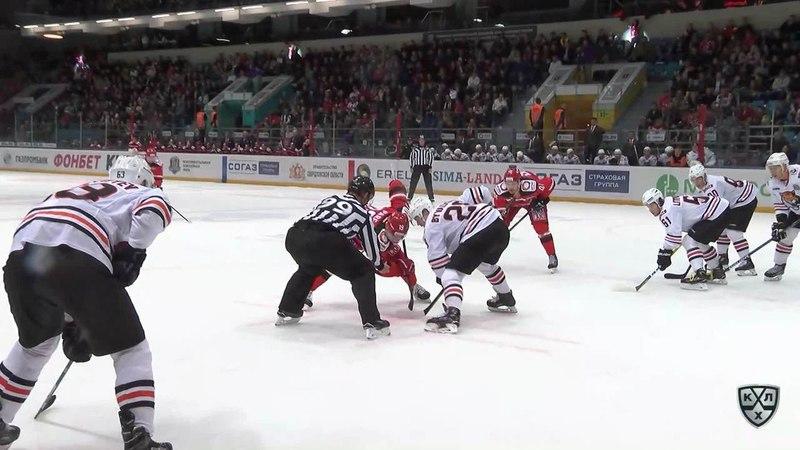 Моменты из матчей КХЛ сезона 17/18 • Гол. 1:1. Франсис Паре (Автомобилист) сравнивает счет 08.09