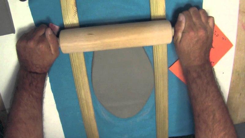 Slab Vase Rolling out the slabs