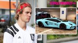 Justin Bieber Is Asked About His Lamborghini Being Vandalized With Spray Paint To Say 'Cash Only'