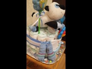 Торт из подгузников для новорождённого