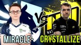 Liquid vs Na'Vi - Miracle vs Crystallize Best Carry Players - Full-Slotted Battle Dota 2