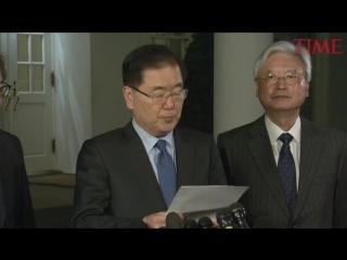 Trump will meet with North Korean leader Kim Jong Un by May, South Korea says.