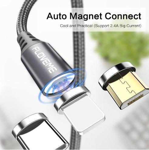 Магнитный зарядный кабель Floveme