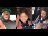 Музыка в авто: Деррик Льюис, Деметриус Джонсон с детьми.