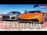 [Bulkin] AUDI R8 vs LAMBORGHINI HURACAN - КТО БЫСТРЕЕ?! (FORZA HORIZON 3)