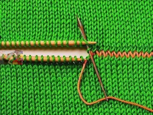 Шов иголка назад в вязании 54