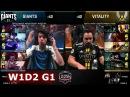 Giants vs Vitality | Week 1 Day 2 of S8 EU LCS Spring 2018 | GIA vs VIT W1D2 G1