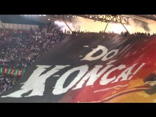 Потрясающий перфоманс фанатов «Легии»
