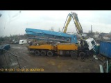 time laps install motor MAN concret pump 52m