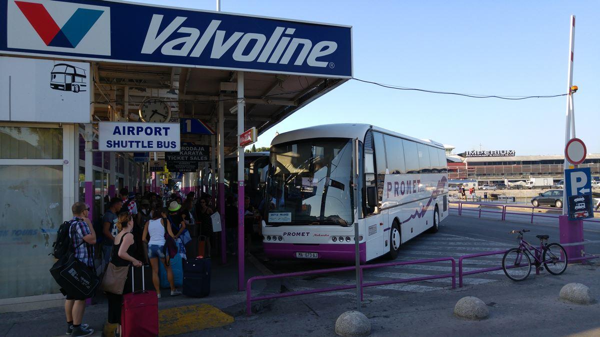 Автобус-шаттл в аэропорту Сплита