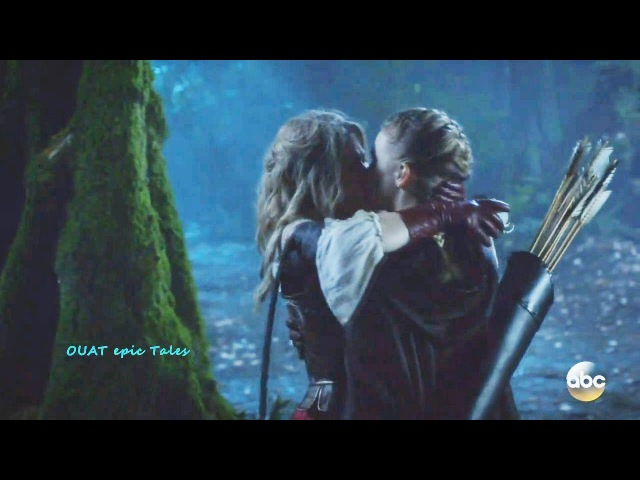 Once Upon A Time 7x10 Alice and Robin Kiss Season 7 Episode 10