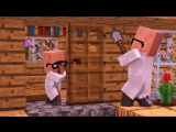 Zombie vs Villager Life 5 - Alien Being Minecraft Animation