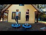 Sports Bra vs No Bra- Trampoline Test!(with Twin Sister)
