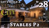How To Build A Medieval City E28 Stables P2 Minecraft Z One N Only
