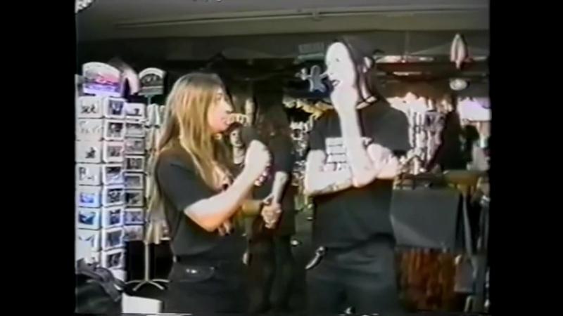 Marilyn Manson интервью в музыкальном магазине (перевод rus vo) - 12.12.1995