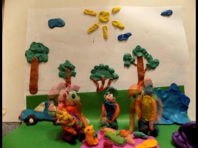 Витебский гимназист снял пластилиновый мультик о том, как люди загрязняют природу
