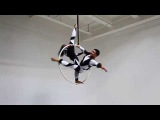 Anzhela Kulagina & Maria Baglay on Aerial Hoop