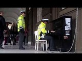 Yiruma - River Flows In You - street piano Prague - song performed by Czech police