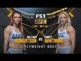 THE ULTIMATE FIGHTER FINAL Gillian Robertson vs Emily Whitmire