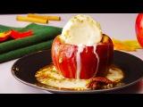 Печеные Яблоки С Карамелью И Мороженым. Вкуснейший Рецепт На Сладкое