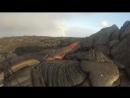 GoPro сняла впечатляющие кадры расплавленной лавы и выжила после столкновения с ней