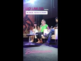 Napoli Comicon #LucyLawless