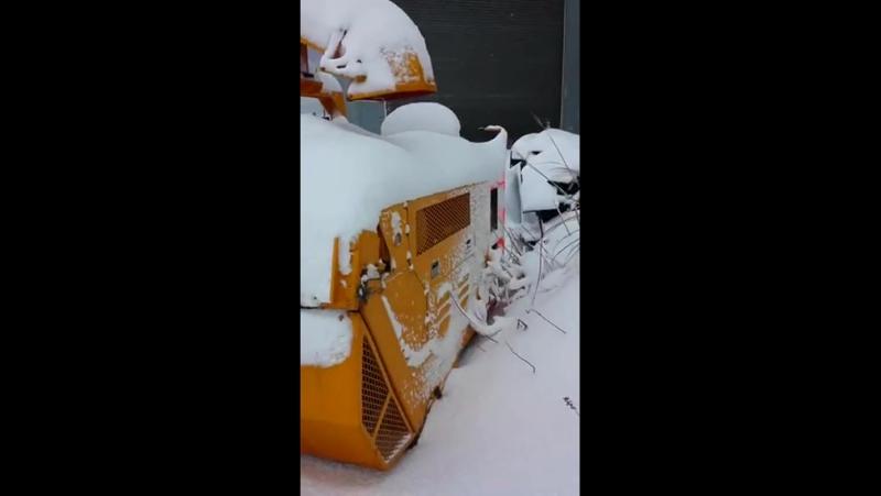 HR-140S NISSEKI Осмотр снегоуборочного шнекоротора