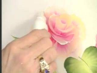 Как рисовать розу (Donna Dewberry-китайская роспись)