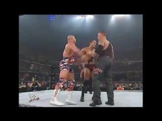 86. Курт Энгл против Рока против Гробовщика; 21 июля 2002 года; матч тройной угрозы; Vengeance 2002