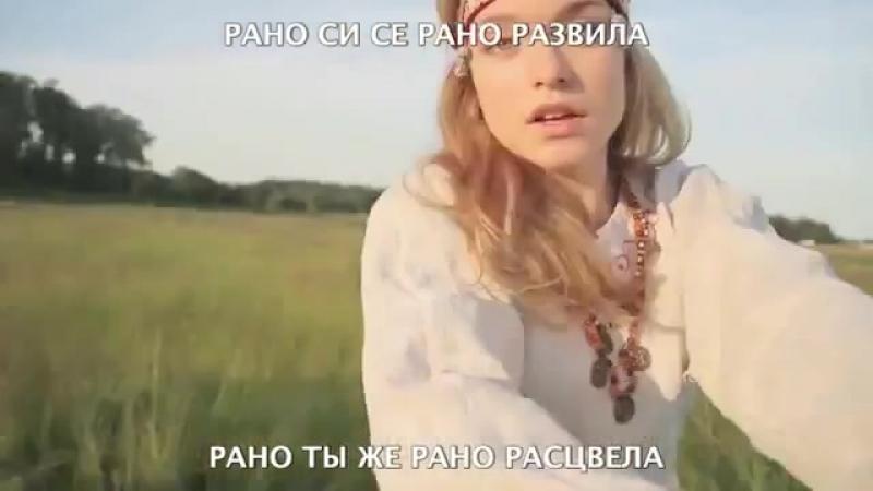 Oj ружице румена Ой розочка румяная Jaj te pirospozsgás rózsácska