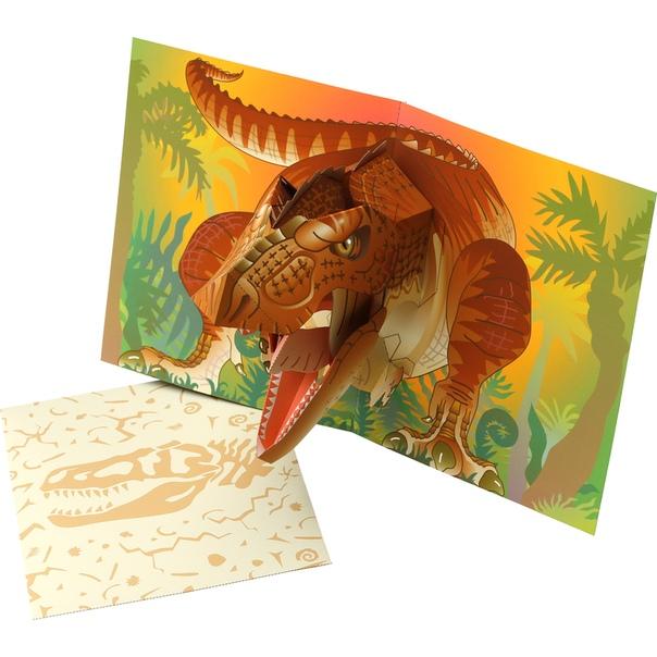 Рождения, объемные открытки динозавр