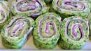 Gefüllte Zucchini Rolle Zucchini Schnecken Zucchini Röllchen Frischkäse Schinken