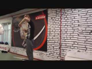 Тренировка по прикладной технике рукопашного боя, контр атака на удар ножом
