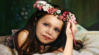REALISTIC ART • OIL PAINTING DEMO - little girl / kid / baby / child portrait by Isabelle Richard